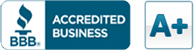 Better Business Bureau A+ rated business logo